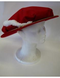 Sombrero con pluma rojo