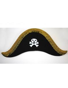 Sombrero capitán pirata calavera