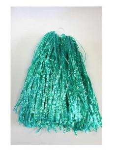 Pompones verdes con anilla