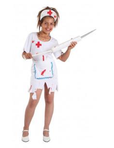 Disfraz enfermera halloween niña