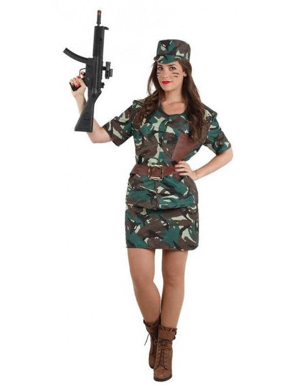 Disfraz de militar mujer - Comprar en Tienda Disfraces Bacanal