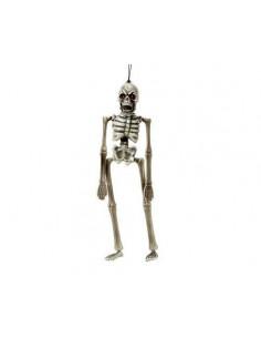 Esqueleto colgante con gemas en ojos