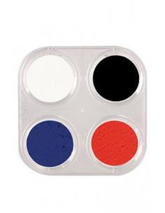 Paleta maquillaje al agua 4 colores
