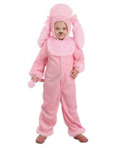 Disfraz perro bebé rosa