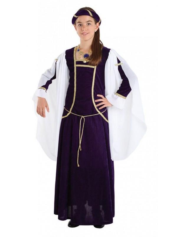 Disfraz reina medieval niña