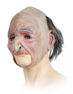 Máscara abuelo con pelo