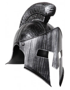 Casco de espartano plata