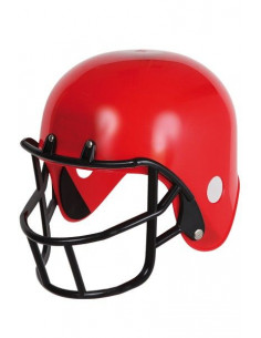 Casco de rugby rojo