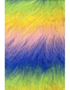 Tejido pelo rasty multicolor