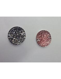 Piedra redonda de micropuntos 14mm