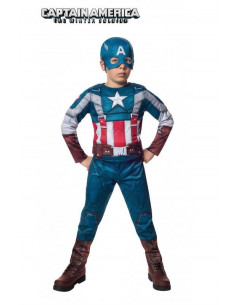 Disfraz Capitan América musculoso infantil