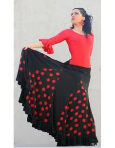 Falda baile español godes topos 1 volante