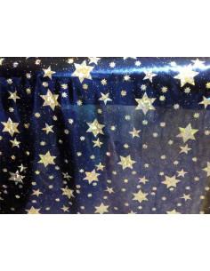 Tejido lica metalizada con estrellas