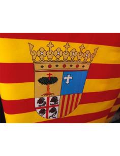 Tela bandera de Aragón con escudo al corte