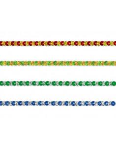 Pasamanería lentejuela bicolor 6mm