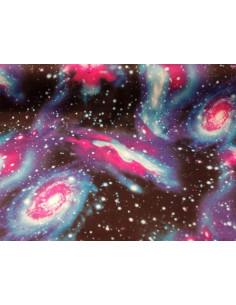 Tejido punto estampado universo