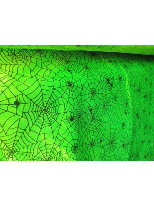 Tejido satin fluor tela de araña