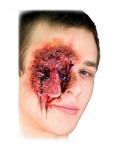 Prótesis de látex herida ojo colgante