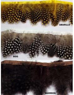 Fleco plumas decoradas