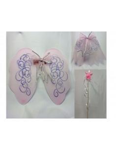 Set de alas rosa infantil