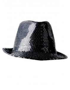 Sombrero gánster lentejuelas