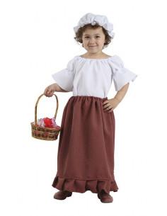 Disfraz medieval bebe niña