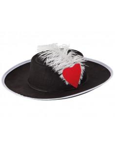 Sombrero mosquetero fieltro infantil