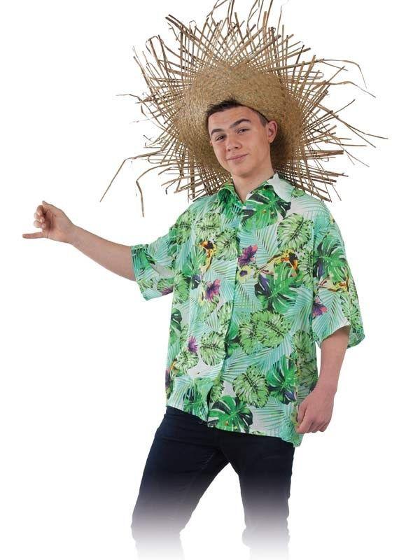 Camisa de hawaiano adulto