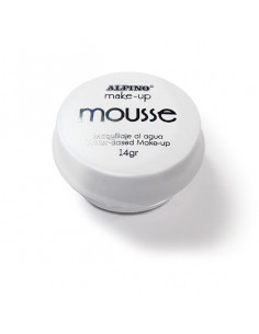 Maquillaje mousse blanco individual
