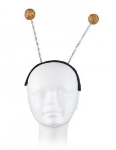 Diadema con bolas doradas