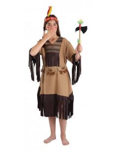 Disfraz de india para niña nube roja