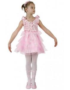 Disfraz bailarina rosa infantil