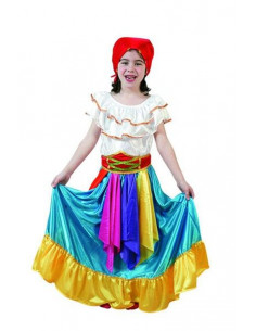 Disfraz zíngara azul niña