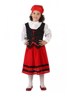 Disfraz pastora roja niña