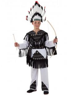 Disfraz indio cherokee infantil  Modelo-Único Tallas-12 años