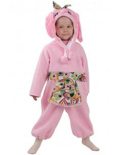 Disfraz conejita rosa bebé