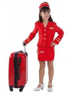 Disfraz azafata de vuelo niña