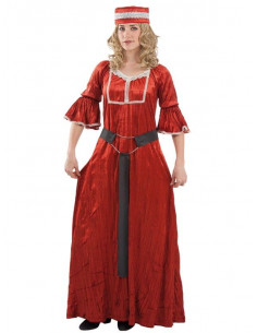 Disfraz medieval rojo mujer  Tallas-M