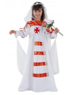 Disfraz novia medieval infantil