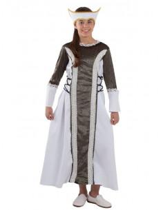 Disfraz dama medieval Isabel niña
