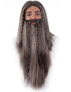 Peluca y barba enano