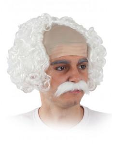 Peluca y bigote científico