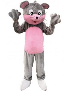 Mascota ratón gris