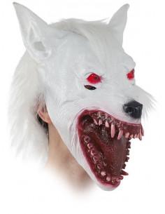 Máscara lobo albino