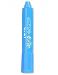 Barra maquillaje azul cyan con aplicador