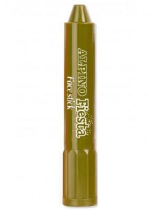 Barra maquillaje verde camuflaje con aplicador