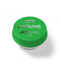 Maquillaje mousse verde individual