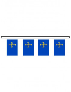 Bandera plástico Asturias