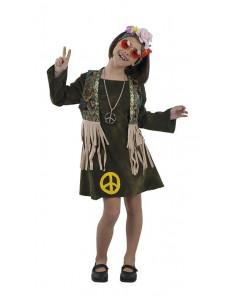 Disfraz hippie niña