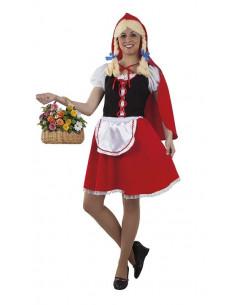 Disfraz caperucita roja para mujer